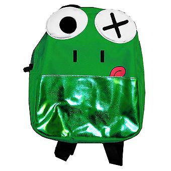 Mini Backpack - Frog Face - Green Nylon 10