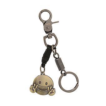 Шкипер Keychain Keychain с смайлик Черный 8119