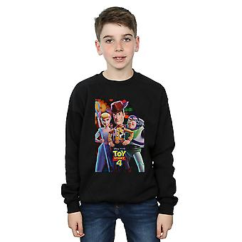 Disney Boys Toy Story 4 Buzz Woody And Bo Peep Poster Sweatshirt