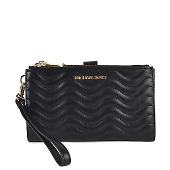 MICHAEL by Michael Kors Black Jet Set Quilted Leather Phone Wallet