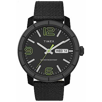 Timex | Men's Mod 44mm | Schwarze Nylon-Armband | Schwarzes Zifferblatt | TW2T72500 Uhr