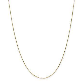10k Gelbgold poliert Frühling Ring .6mm Sparkle-Cut Kabel Kette - Länge: 14 bis 24