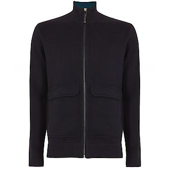 Ted Baker Wool Blend Zip-Through Newrule Cardigan