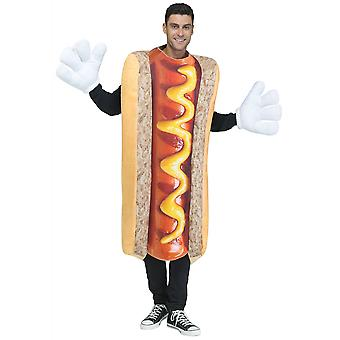Hot Dog Photo Real Sausage Footy Food Funny Buck Night Dress Up Mens Costume