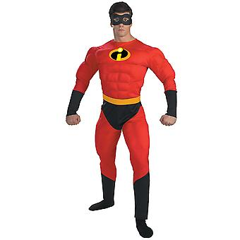 Mr Incredible o Incredibles Deluxe Muscle super-herói Disney Mens costume XL