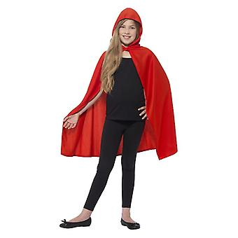 Meisjes rode kap Cape Fancy Dress accessoire