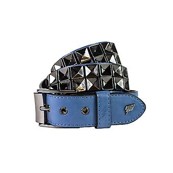 Lowlife Concave Leather Belt in Blue