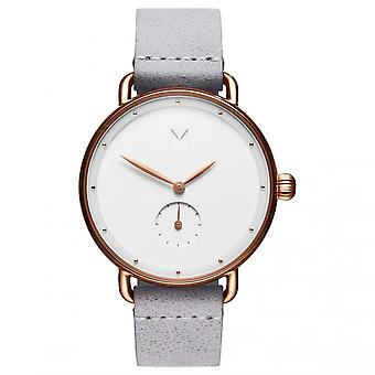 MvMT D-FR01-RGGR Watch - Steel Steel Pink Blackout White Leather Grey Women