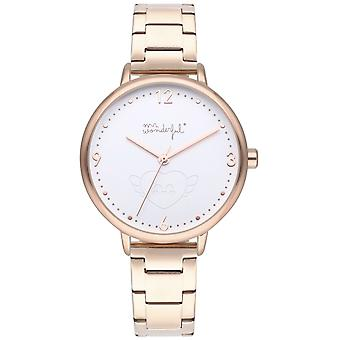 Mr wonderful shine and smile Watch for Women Analog Quartz with Stainless Steel Bracelet WR10000