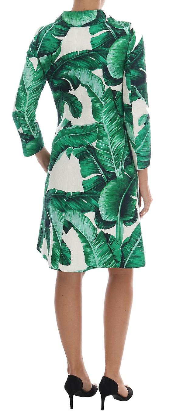 Banana Leaf Cotton Silk Trench Coat