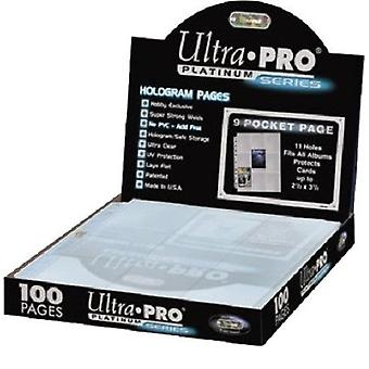 Ultra-Pro Platinum 9-Pocket Hologram Pages Cartes de taille standard