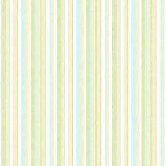 Galerie Stripes Wallpaper Green Blue Yellow White Striped Children's Paste Wall