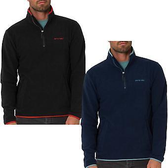 Animal Mens Fairbanks Maniche lunghe Maniche Lunghe Metà zip Fleece caldo Pullover Sweater Top
