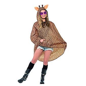 Giraffa di adulti Partito Poncho Festival carnevale costume accessorio