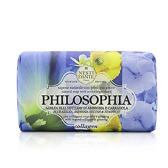 Nesti Dante Philosophia Natural Soap - collagène - azalée bleu Ambrosia Nectar & Carambole avec collagène végétal & Ginseng - 250g/8,8 oz