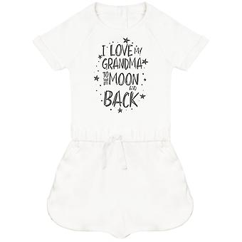 I Love My Grandma To The Moon And Back Baby Playsuit