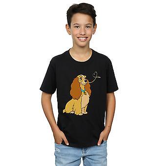 Disney jongens Lady en de vagebond Lady spaghetti hart T-shirt