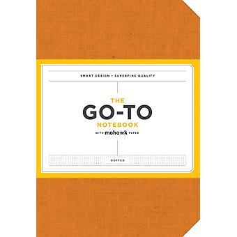 GoTo Notebook with Mohawk Paper Persimmon Orange Dotted