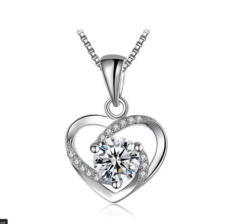 Intertwined crystal heart necklace