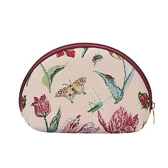 Marrel's tulip white cosmetic bag by signare tapestry / cosm-jmtwt