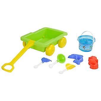 Pilsan 06112 Sand Toy Set with drawer, bucket, moulds, shovels, rakes