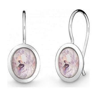 QUINN - Earrings (Pair) - Silver - Gemstone - Pink Quartz - 35822930