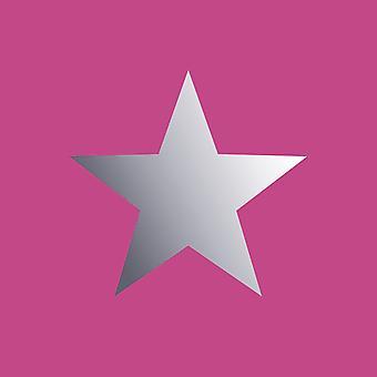 Cartera XII Estrellas Metálicas Fondo Pintado Rosa / Plata Rasch 248180