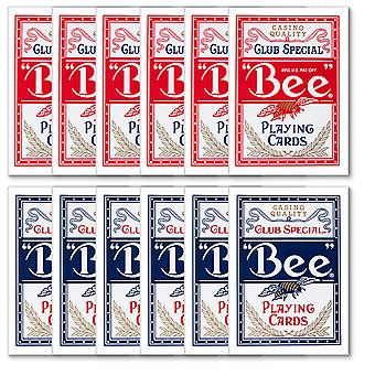 12 Bee Standard index - Red & Blue