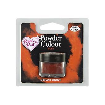 Poeira do arco-íris comestível Matt Powder Dust Colour 4g Rust