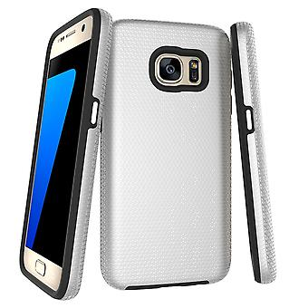 Para samsung Galaxy S7 Case, Silver Armor Slim Shock Proof Protective Phone Cover