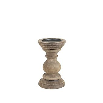 Light & Living Candle Holder 12x20cm - Pescara Wood Weather Barn