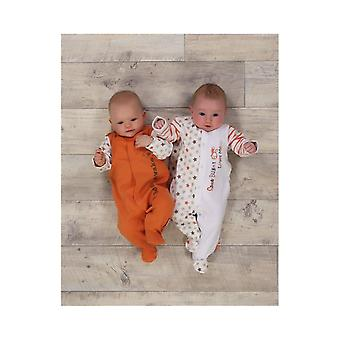 The Essential One Baby Unisex Bearly Awake Sleepsuits - 2 Pack