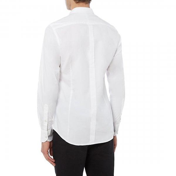 Replay valkoinen pitkähihainen Plain paita M4941D