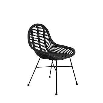 Light & Living Chair 69x56x86cm Bogor Rattan Black