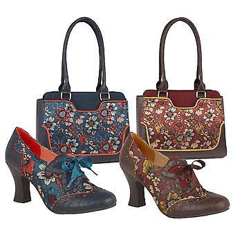 Ruby shoo kvinnor ' s Daisy Lace up brogue skor stövlar & matchande Tunis väska