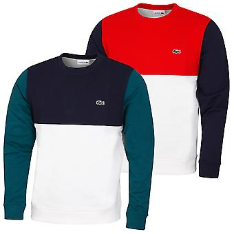 Lacoste Mens 2020 SH5185 Ribbed Contrast Embroidered Crocodile Sweater