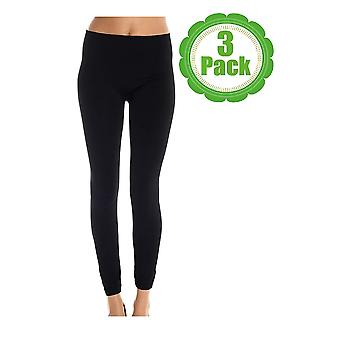 American Casual Women's 3 Pack Seamless Fleece Lined Leggings,Small / Medium,...