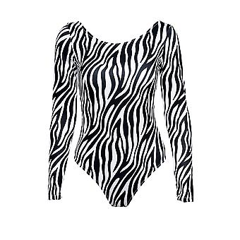 Paramidonna Zbs0102 Women's Wit/zwart Nylon Bodysuit