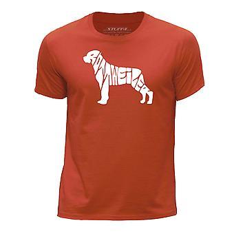 STUFF4 Boy's Round Neck T-Shirt/Dog Love / Rottweiler/Orange