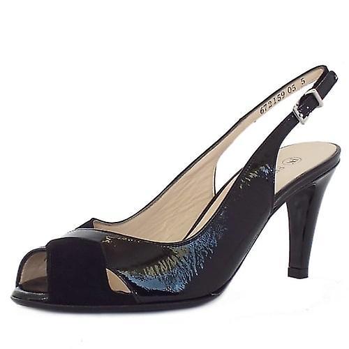 Peter Kaiser Sybylle Women's High Heel Peep Toe Sandals In Black Mix A28uL