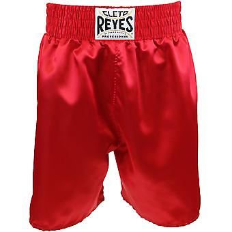 Cleto Reyes Satin Classic Boxing Trunks - Red