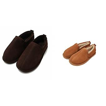 Eastern Counties Leather Mens Sheepskin Lined Hard Sole Slippers