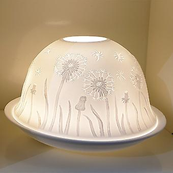 Nordic Lights Dandelion Tealight Candle Shade & Tray