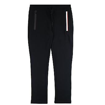 Moncler side kontrasterende farve stribe spor bukser sort 999
