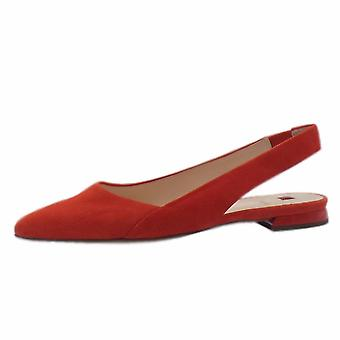 Högl 7-10 0102 Kindly Chic Pointed Toe Slingback Shoes In Scarlet