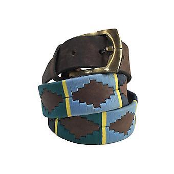 Carlos diaz unisex  brown leather  polo belt cdupb32