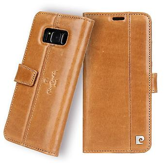 Pierre Cardin Leder Bücherregal Fall Samsung Galaxy S8 - braun