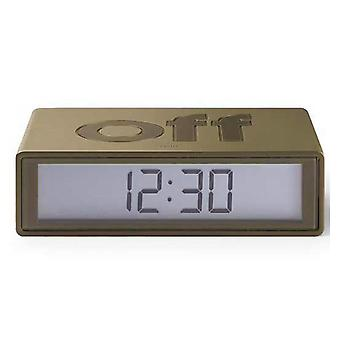 Lexon LR130 Flip Alarm Clock Wake Up LCD On Off Light Design Award Bronze