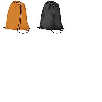BagBase Budget Water Resistant Sports Gymsac Drawstring Bag (11L) (Pack of 2)