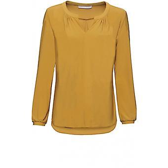 Bianca Mustard Jersey Top